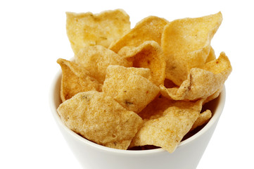 A bowl with cassava chips