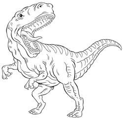 T-rex dinosaur outline