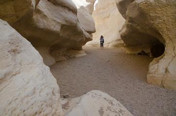Hiker in Negev Desert