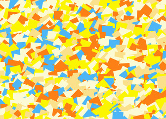 big heap from blank empty multicolored notepad paper sticker
