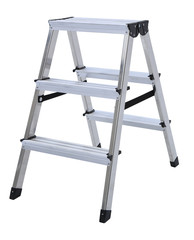 Aluminum metal step-ladder isolated
