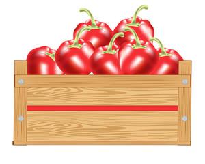 Red pepper in box