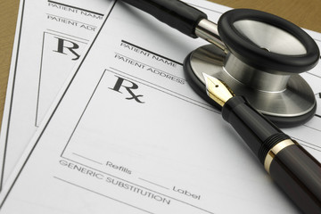 Medicare prescription and Stethoscope