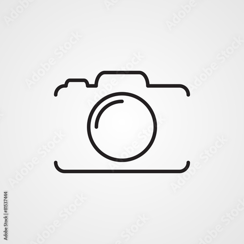 Fototapeta Photo camera icon