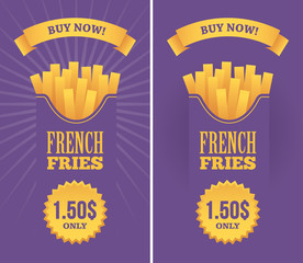 French fries banners