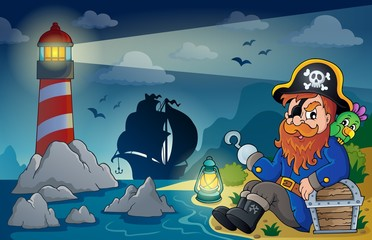 Lighthouse with pirate theme 5