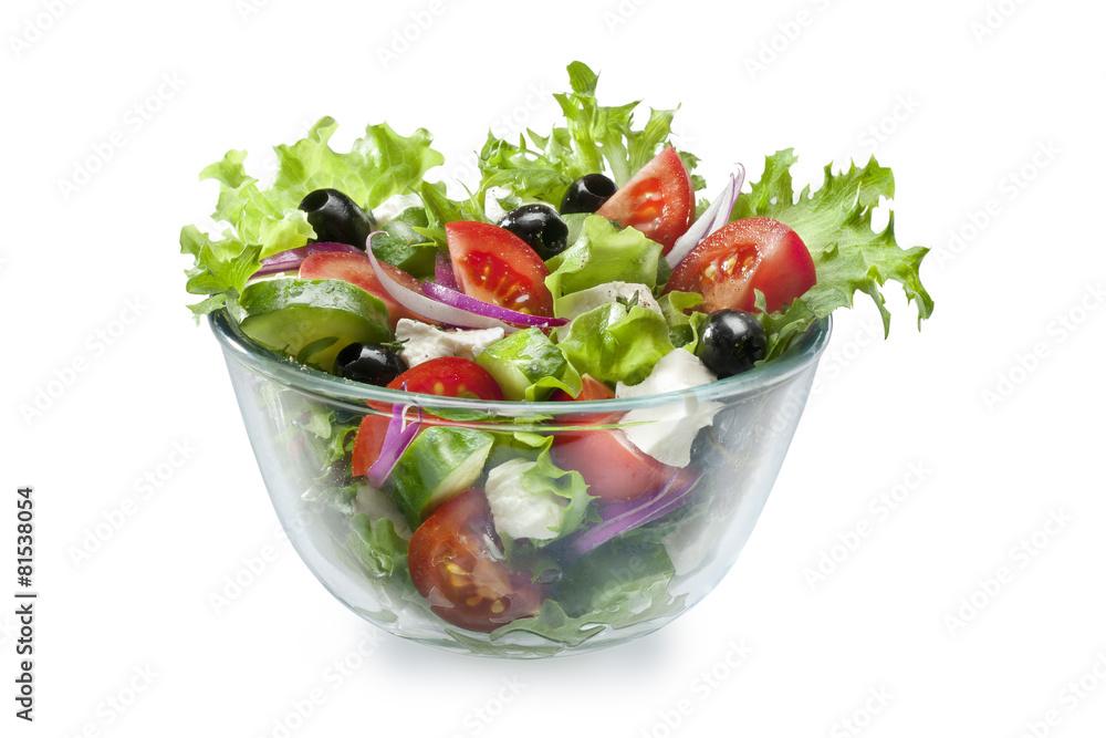 fotobehang greek salad foto4art. Black Bedroom Furniture Sets. Home Design Ideas