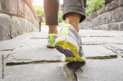 Woman Walking on trail outdoor exercise - 81538640
