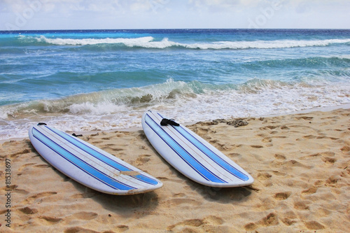 Surfboards at beach - 81538697