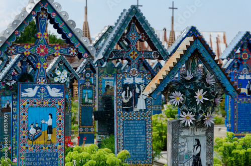 The merry cemetery of Sapanta, Maramures. - 81539051