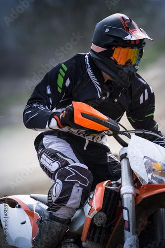 Foto op Plexiglas F1 pilota di motocross