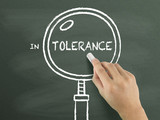 tolerance word with magnifying glass poster
