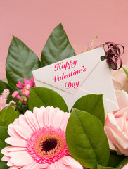 Valentine Bouquet with Greeting Card