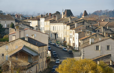 The ancient street in the French town Nerac