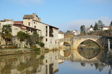 The ancient French town Nerac