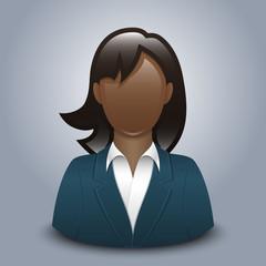 Black woman user icon