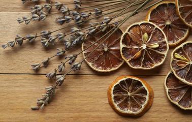 Lavender and dried lemon slices
