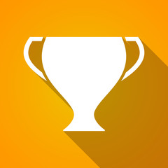 Long shadow award cup icon