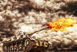 Military Tank Firing - 81541880
