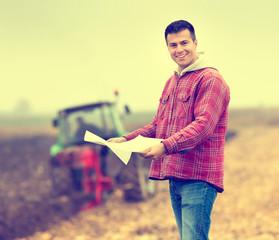 Farmer on field