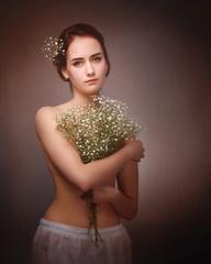 pretty woman amorous  portrait