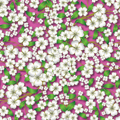 abstract floral ornament on pink