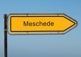 Strassenschild 35 - Meschede