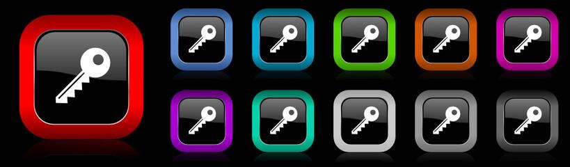 key vector icon set