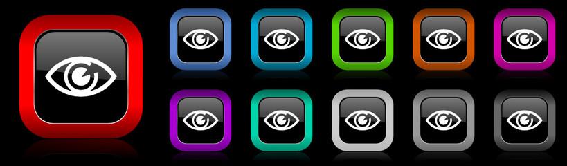 eye vector icon set
