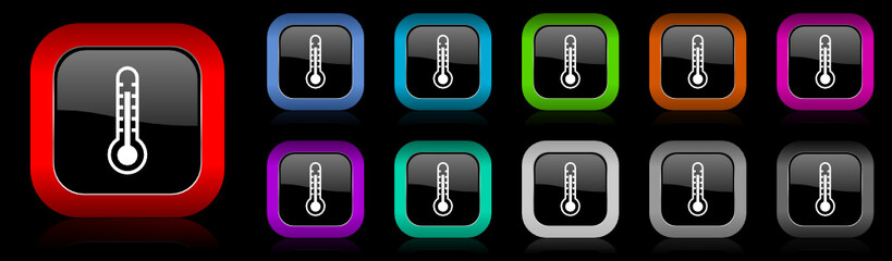 thermometer vector icon set