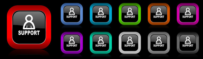 support vector icon set