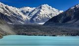 Overview Tasman Lake with Tasman glacier, New Zealand