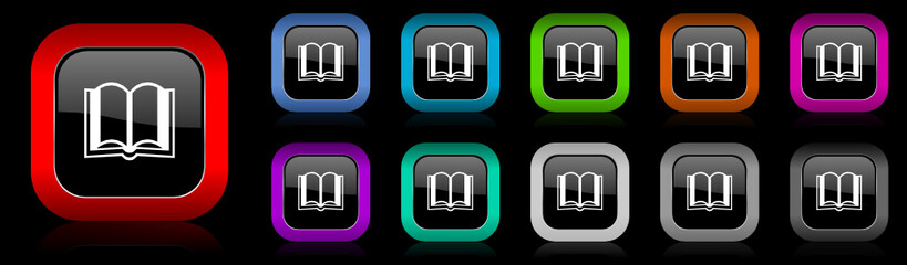 book vector icons set