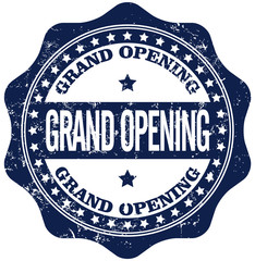 grand opening  rubber stamp