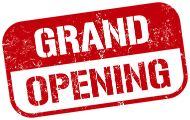 grand opening red stamp