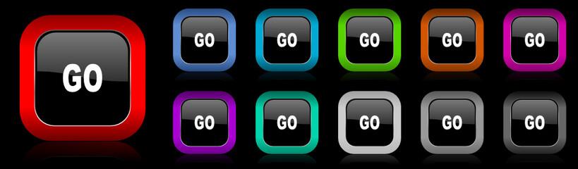 go vector icon set