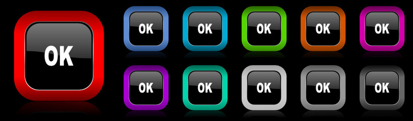 ok vector icon set