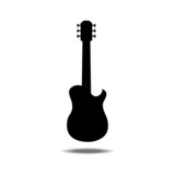 silhouettes of guitar