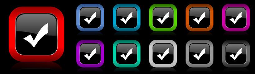 check vector icon set