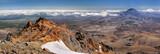 Panoramic view with Mt. Ngauruhoe (New Zealand)