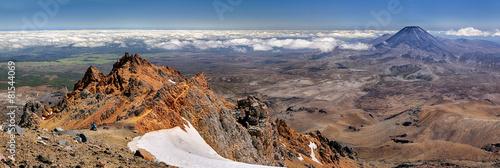 Canvas Nieuw Zeeland Panoramic view with Mt. Ngauruhoe (New Zealand)