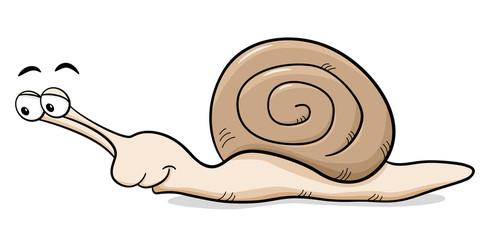 Cartoon Schnecke mit Schneckenhaus
