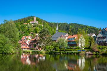 Stadtsee mit Burg Liebenzell, Bad Liebenzell