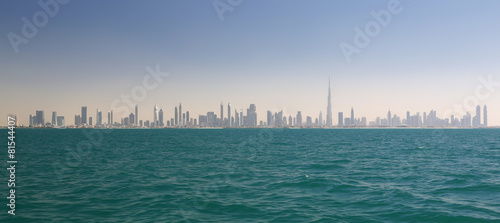 Aluminium Dubai Skyline of Dubai (United Arab Emirates)