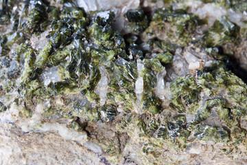 epidote crystals, mineral morocco