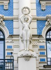 Jugendstil house in Riga, Latvia