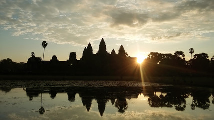 Sunrise. Angkor Wat.
