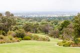 View across Kirstenbosch National Botanical Gardens towards Cape poster