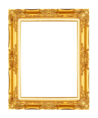 Gold frame. Gold/gilded arts and crafts pattern picture frame. I