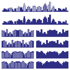 silhouettes of the city
